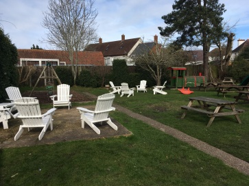 Beer Garden The Railway Craft Pub Kitchen Ringwood new Forest near Bournemouth